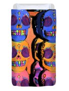 Day Of The Dead Ink Duvet Cover