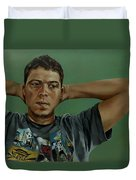 Day Portrait Of A Young Man Duvet Cover