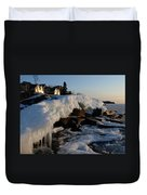 Daybreak At Cove Point Lodge Cottages Duvet Cover