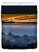 Daybreak Coming To The Smoky Mountains E150 Duvet Cover