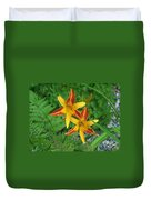 Frans Hall Daylily Attention Getter Duvet Cover