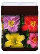 Daylily Days  Duvet Cover