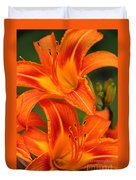 Daylily Duo  Duvet Cover