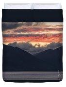 Days End On Lake Wakatipu Duvet Cover