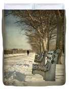 Days Of Cold Chills Duvet Cover