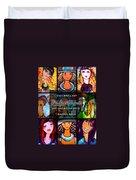 Dazzle Neck Art Collection Duvet Cover