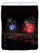 Dazzling Fireworks II Duvet Cover by Ray Warren