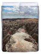 Dead End Trail In Badland National Park South Dakota Duvet Cover