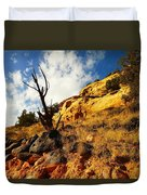 Dead Tree Against The Blue Sky Duvet Cover by Jeff Swan