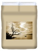 Dead Tree And Sea Duvet Cover