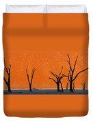 Dead Trees By Red Sand Dunes, Dead Duvet Cover
