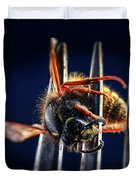 Dead Wasp On A Fork Duvet Cover