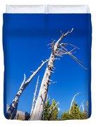 Dead White Trees Duvet Cover