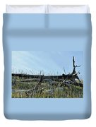 Deadfall And Grasses And Brushed Blue Skies Duvet Cover