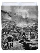 Deadwood South Dakota C. 1876 Duvet Cover