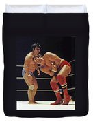 Dean Ho Vs Don Muraco In Old School Wrestling From The Cow Palace Duvet Cover