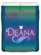 Deana Name Art Duvet Cover
