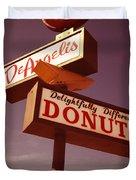 Deangelis Donuts Duvet Cover by Jim Zahniser