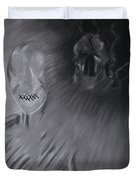 Death A Coward Duvet Cover