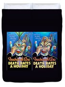 Death Takes A Redux Duvet Cover