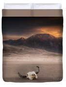 Death In The Desert Duvet Cover
