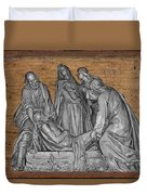Death Of Christ Duvet Cover