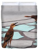 Death Valley Birds Duvet Cover