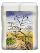 Death Valley- California Sketchbook Project Duvet Cover