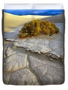Death Valley Mudflat Duvet Cover