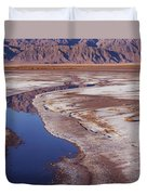Death Valley Salt Stream 1-h Duvet Cover