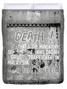 Death Warning Duvet Cover