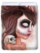 Deathlike Skull Impression Duvet Cover