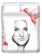 Debra Morgan Portrait - Dexter Duvet Cover