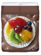 Decadent Fruit Tart Duvet Cover