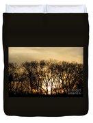 December Forest Dusk Duvet Cover