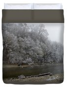 December Morning On The River Duvet Cover