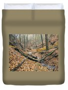 Deciduous Forest With Ravines Duvet Cover