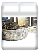 Deck Cat Duvet Cover
