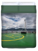 Deck On The Navimag Ferry Duvet Cover