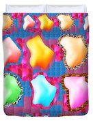 Deco Pattern Patchup Collage Crystals Jewels Rose Flower Petals Duvet Cover
