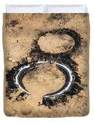 Decomposing Tires Duvet Cover