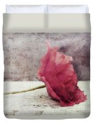 Decor Poppy Horizontal Duvet Cover by Priska Wettstein