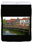 Decorations For Orange Day To Celebrate The Queen's Birthday In Enkhuizen-netherlands Duvet Cover