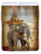 Decorative Elephant Duvet Cover by Adrian Evans