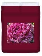 Decorative Fancy Pink Kale Duvet Cover
