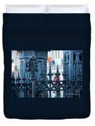 Decorative Iron Fence In New Orleans Duvet Cover