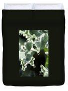 Decorative Kale With Dew Duvet Cover