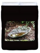 Decorative Leaf Birdbath Duvet Cover
