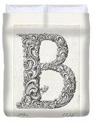 Decorative Letter Type B 1650 Duvet Cover