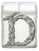 Decorative Letter Type D 1650 Duvet Cover